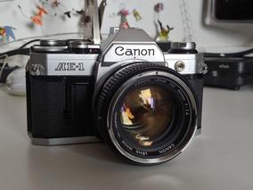 Camera Analógica Canon Ae-1 Com Lente 55mm F1.4 Ultra Clara