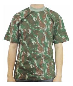 Camiseta Camuflada Manga Curta Roupa Camuflada