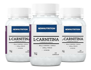 Kit 3x L- Carnitina 2000mg 120 Caps - Newnutrition