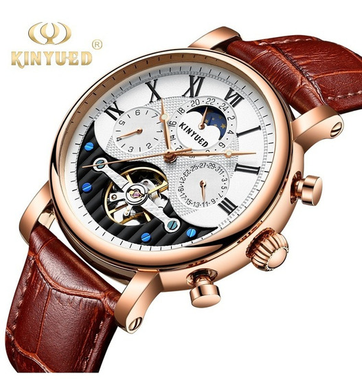 Reloj Para Hombre Automático Tourbillon Kinyued J018 Cfe/bc