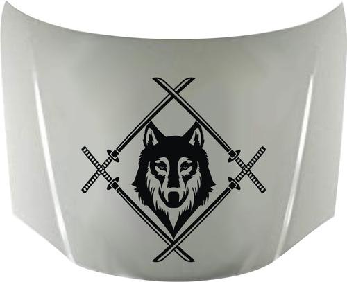 Calcos Lobo Wolf Samurai 01 Capot + Regalo !! Graficastuning 00070