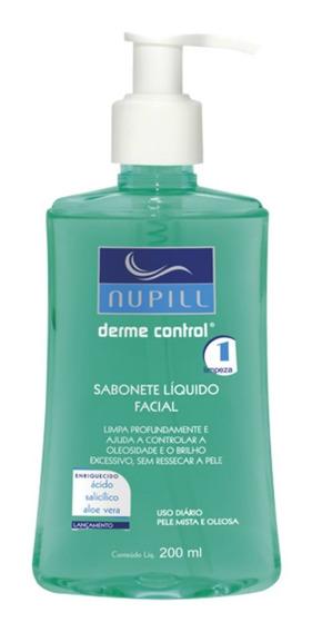 Sabonete Líquido Facial Anti-acne Nupill Derme Control 200ml