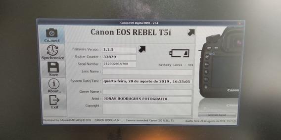 Câmera Canon T5i Com 32879 Cliques