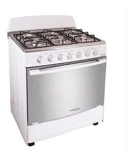 Cocina Premium Ariesb 30 PuLG 6 Hornillas Blanco Nuevo