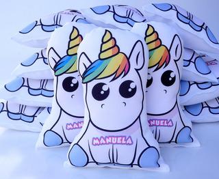 30 Almofada Contornada Personalizada Lembrancinha Unicornio