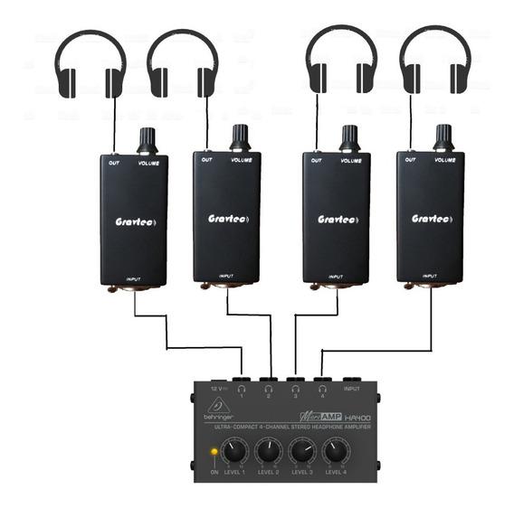 Regulador De Volume Retorno De Fone De Ouvido - Kit Com 3