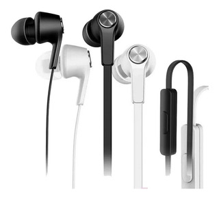 Fone Xiaomi Piston In Ear 100% Original Preto Branco Lacrado
