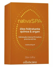 Óleo Hidratante Quinoa & Argan Nativa Spa 250 Ml. Boticário