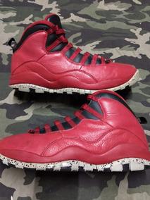 Tenis Jordan Retro 10 Rojo Piel