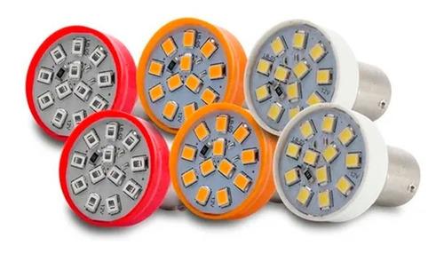 Imagem 1 de 5 de Kit 6 Lâmpadas Leds Lanterna Traseira Pisca Seta Ré Freio