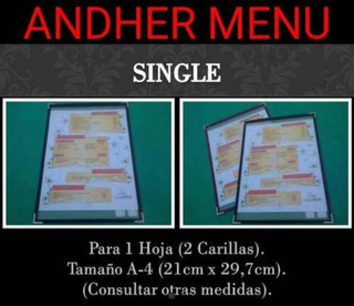 Andher Menu - Carta Económica Simple Single