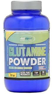 Glutamina X 150 G Ultra Micronizada Hoch Sport Glutamina Pro Recuperación Rendimiento Masa Muscular Ultra Fina