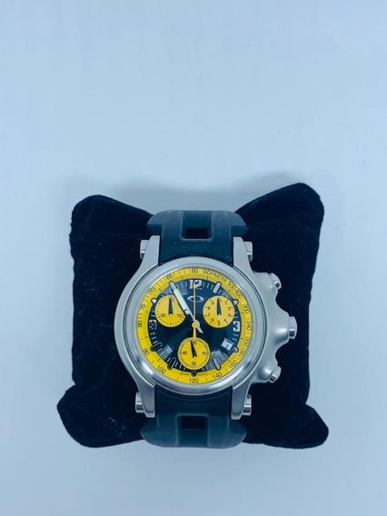 Relógio Oakley Amarelo Com Pulseira Preta Original