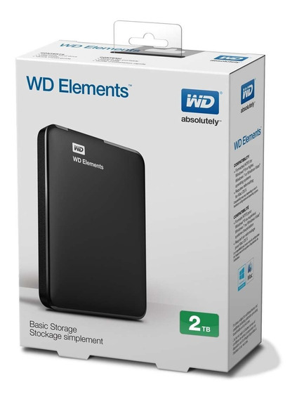 Disco Externo 2tb Wd Elements 3.0 Negro
