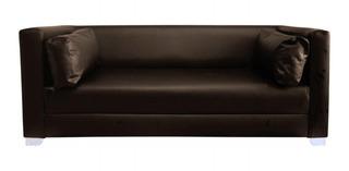 Sofa Boca 3 Puestos Ecocuero Colores Varios