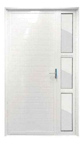 Porta Alumínio 1 Bandeira Branca Direita 210x121cm Metalflex