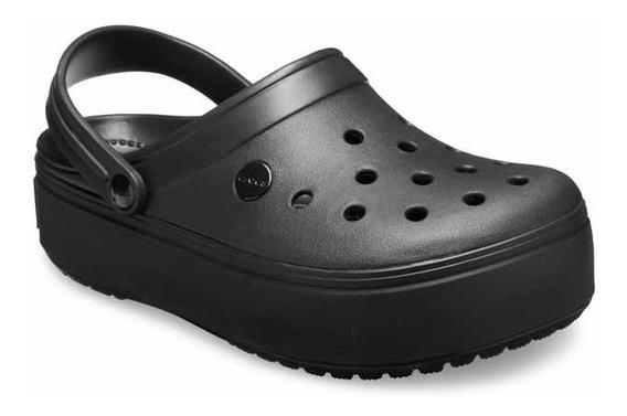 Sandalia Crocs Crocband Platform Mujer Original Black Cuotas