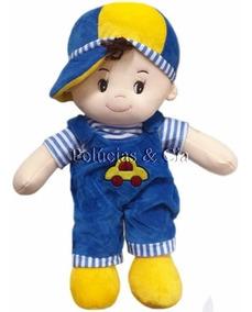 Boneco De Pano Juninho 45cm Azul Marinho - Quarto De Menino