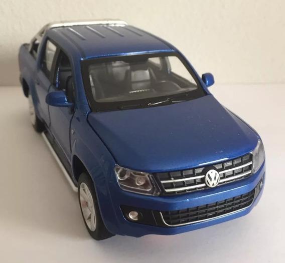 Miniatura Volkswagen Amarok - Com Luz E Som - Azul 1:30