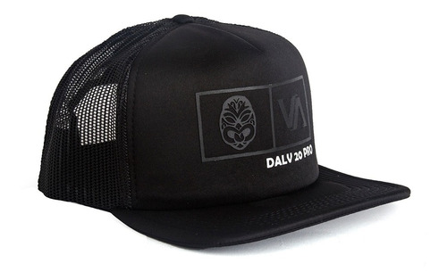 Gorras Tracker Cap Valimited  Hombre Negro Logo Engomado