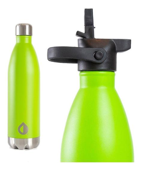 Botella Térmica Reutilizable Deportiva Acero Inox 750 Ml + Pico Cebador | Pura Vita | Empresa B Certificada Anmat