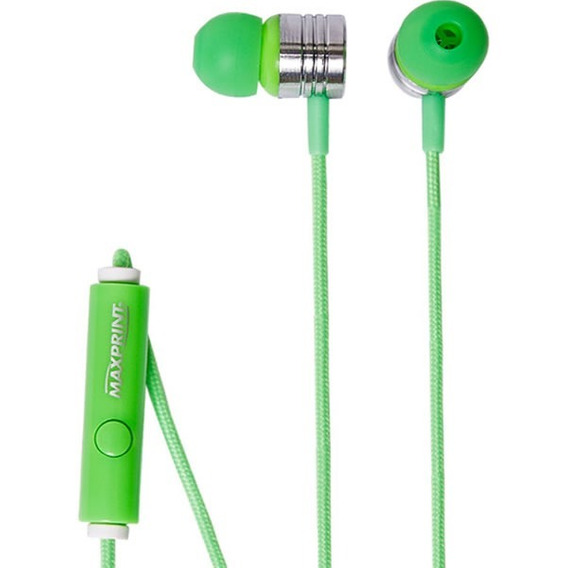 Earphone Com Mic Neon Green Max 6012240