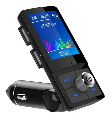 Imagen 1 de 6 de Transmisor Fm Bluetooth Para Coche, Pantalla A Color De 1,8