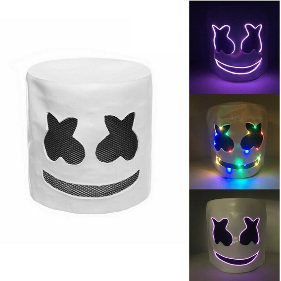 Led Marshmello Dj Mask Partido Prop Branco