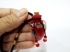 Aromatizador Pessoal Colar De Vidro C/rolha Modelo Coração