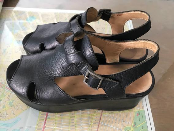 Zapatos Plataforma Cuero Mishka