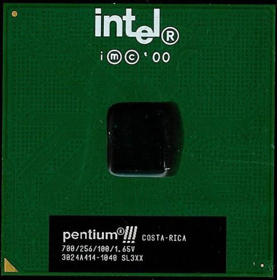 Processador 700 Mhz Intel Piii 256 100 Sl3xx