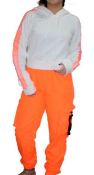 Pantalon The Vox Tl Naranja Fluor Sport Cint 36-46 Cm L