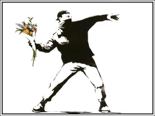 Poster Grafite Banksy 60x80cm Arte Urbana Enfeite Para  Sala