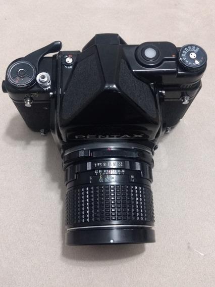 Câmera Pentax 6x7 C/ Fotometro + 55mmf4 + Flash Metz 45 Ct1
