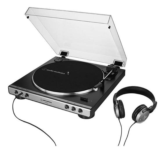 Toca-discos Audio-technica Automático (belt-drive) Com Fone