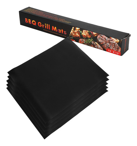 Bbq Mat Reutilizável Fácil De Grill Mat Gás Carvão Funciona