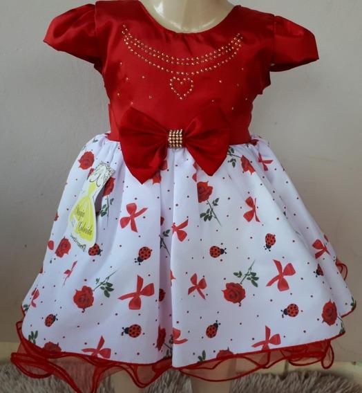 Vestido Bebê Festa Vermelho