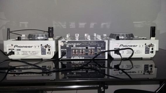 Kit Cdjs 350 + Mixer 350 Pioneer