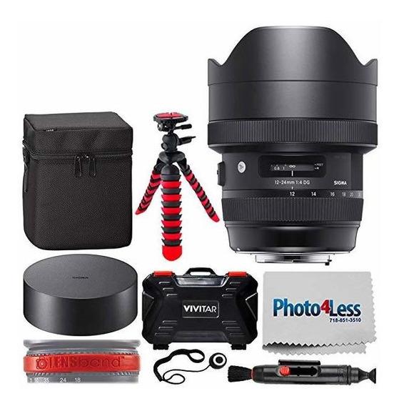 Camara Sigma 12-24mm F 4 Dg Hsm Art Lente Canon Ef + Vivit ®