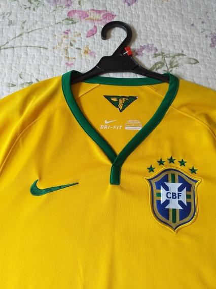 Camisa Brasil 2014 Oficial Nike Tamanho P