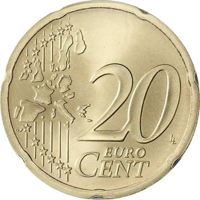 España Moneda Miguel De Cervantes 20 Centavos De Euro 2001