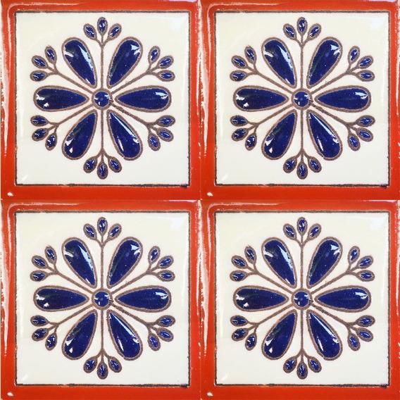 Azulejo Talavera Mosaico Artesanal Queretaro 10 Piezas