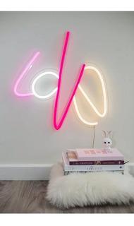 Lampara Love Amor Cariño Neon Flex Adorno Decoración