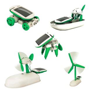 6 En 1 Kit Robot Panel Solar Educativo