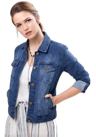 Campera De Jeans Mujer Elastizada Entallada Talles S Al 3xl