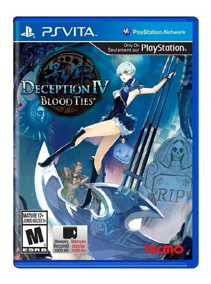 Deception Iv Blood Ties - Ps Vita - Novo - Mídia Física