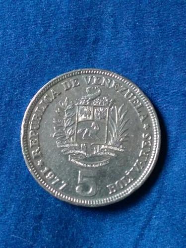 Monedas De 5 Bolivares Año 1973-1977