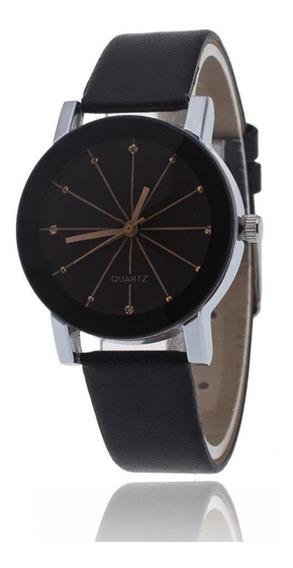 Moda Casal Relógio De Quartzo Pulseira De Couro Relógio De
