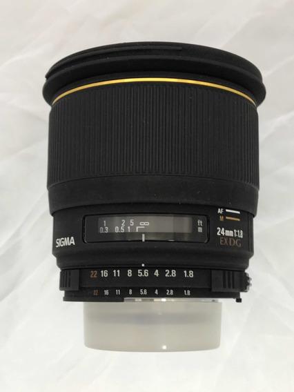 Obj. Sigma 24mm 1.8 Ex Dg P/ Nikon