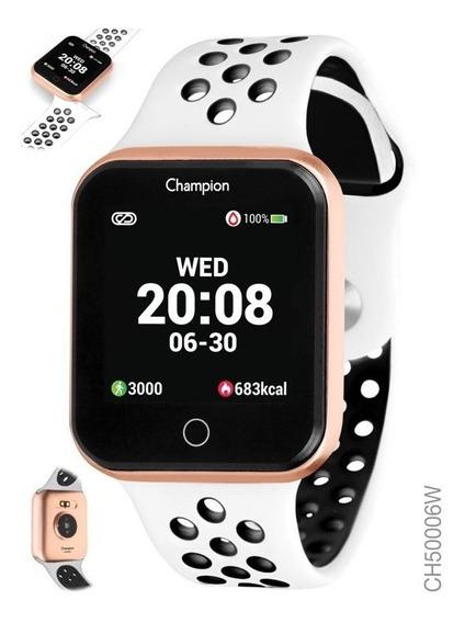 Relógio Smartwatch Champion Branco Rose Ch50006w Bluetooth